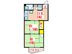 鮫島米穀ビル [2階]の間取り