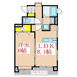 アメニティガーデン[2階]の間取り