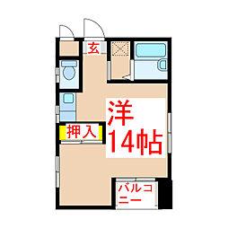 セジュール新屋敷[3階]の間取り