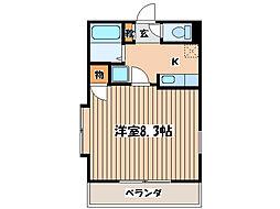 Nフロンティア[2階]の間取り