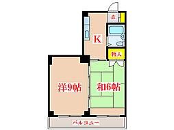 コーポ田中 [3階]の間取り