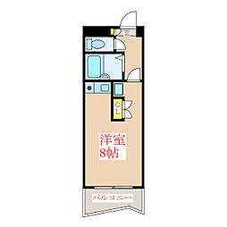 プレジデント柳町[3階]の間取り