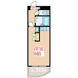 プレジデント柳町[2階]の間取り