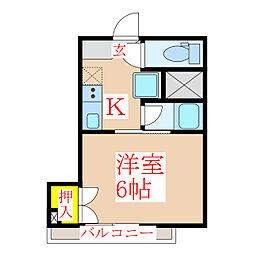 福重ビル [4階]の間取り