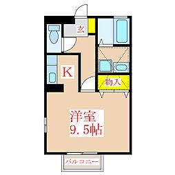 セジュールコンフォートT.A.[2階]の間取り