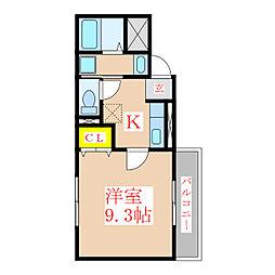 ケイツー・ビルド[6階]の間取り