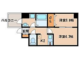 ノヴェル堀江町[9階]の間取り