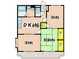 コンホートハイツ[3階]の間取り