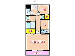 プラザK&H[4階]の間取り