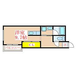 クーラバーゼ[2階]の間取り