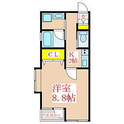 トリニティ西田[3階]の間取り