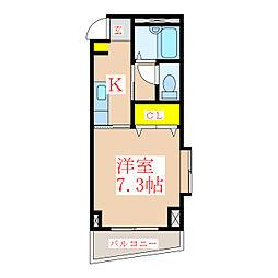 メゾン・ド・ラパン[2階]の間取り