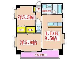 さくらヒルズ新屋敷弐番館[2階]の間取り