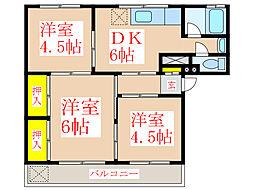 永吉ランドメイト[1階]の間取り