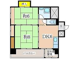 床次ビル (加治屋町)[2階]の間取り