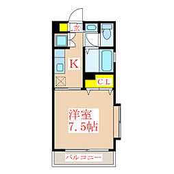 ヴェスタ[4階]の間取り