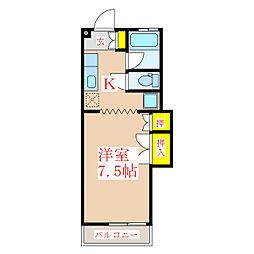 シャトーA.T[3階]の間取り