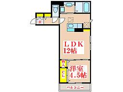 フェリーチェ西田[2階]の間取り