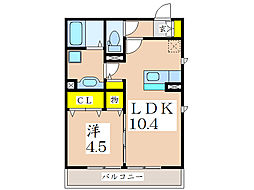 フェリーチェ西田[3階]の間取り
