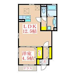 (仮称)D-roomY草牟田[1階]の間取り