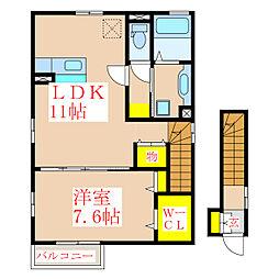 YUDAハイツ[2階]の間取り