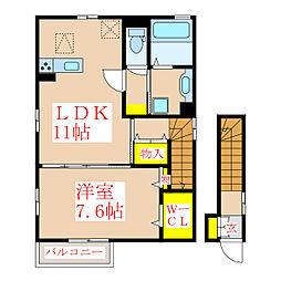 YUDAハイツ[1階]の間取り
