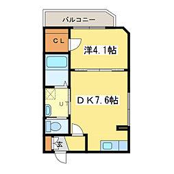 札幌市営東豊線 元町駅 徒歩1分の賃貸マンション 3階1DKの間取り