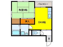 新葵ビル(東栄町)[3階]の間取り