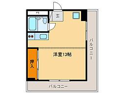 メゾンド・クマダ[6階]の間取り