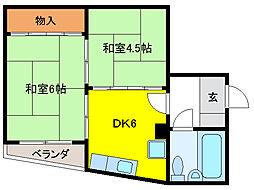 堀壱ビル[4階]の間取り