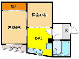 堀壱ビル[2階]の間取り