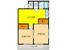 山清ビル[3階]の間取り
