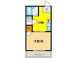 メゾン小林III[4階]の間取り
