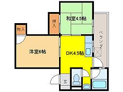 第二大洋ビル[5階]の間取り