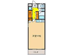 ハイネス菅原[5階]の間取り