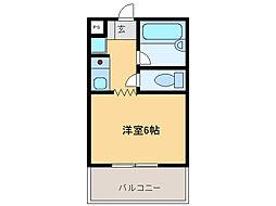 横井ビル[4階]の間取り