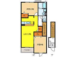 メゾン・ド・ソレイユA・B・C[2階]の間取り