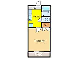 ラフォーレK・2[3階]の間取り