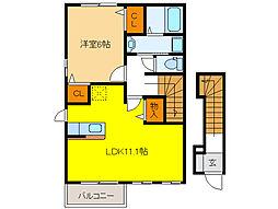 Place Moat II[2階]の間取り