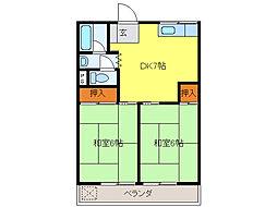 コーポ尾崎[3階]の間取り