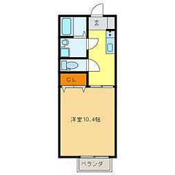 コーポ加納2[1階]の間取り