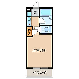 コーポラス浪花[4階]の間取り