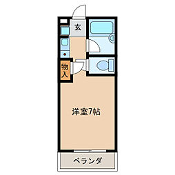 コーポラス浪花[3階]の間取り