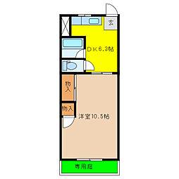 コーポハヤシ[1階]の間取り