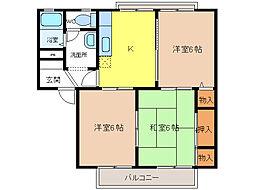 ラ・フォーレヴィラ[1階]の間取り