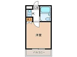 ユウパレス穴田[3階]の間取り
