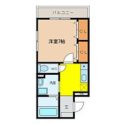 Feliz和泉府中B棟[2階]の間取り