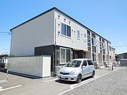 北海道北見市田端町の賃貸アパートの外観
