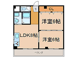 TK矢倉[6階]の間取り