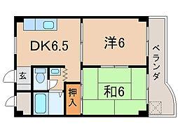 第16洛西ハイツ瀬田[1階]の間取り